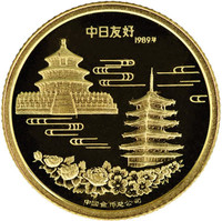 China 1989 Panda 1/10 oz Gold Medal - Sino-Japanese Friendship Commemorative