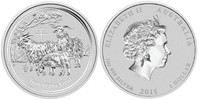 Australia 2015 Year of the Goat 1 oz Silver BU Coin - Series II