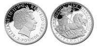 Great Britain 2009 Britannia 2 Pound Silver BU Coin