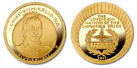 Shawnee Nation 2011 Chief Kish Kallo Wa Five Dollar 1/5 oz Gold Proof Coin