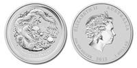 Australia 2012 Year of the Dragon 1 oz Silver BU Coin - Series II