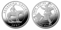 Poarch Creek Indians 2007 Pow Wow Silver Dollar Proof