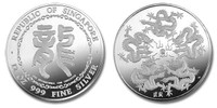 Singapore 1988 12 oz Dragon Silver Proof Medal - Singapore International Coin Convention
