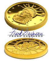 USA 2004 Statue of Liberty/Freedom for All 10 gram Gold Commemorative Proof by Gasparro