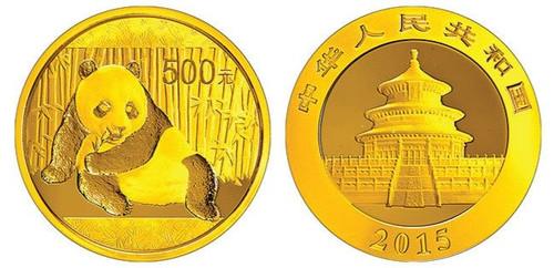 China 2015 Panda 1 oz Gold BU Coin