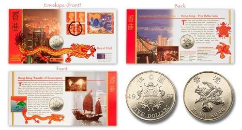 Hong Kong 1997 Return to China Philatelic Numismatic Cover BU