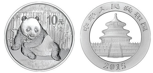 China 2015 Panda 1 oz Silver BU Coin