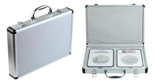 Box - Aluminum Presentaion Box for Holding Platinum/Gold/Silver 1 Kilo/12 oz/5 oz 2-pc Slab Coin