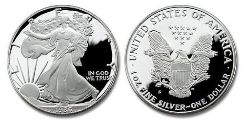 USA 1986 Eagle Silver 1 oz Silver Proof Coin
