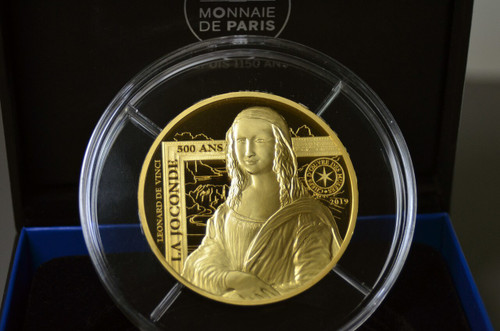 France 2019 The Joconde 5 oz Gold High Relief Proof Coin - Mona Lisa