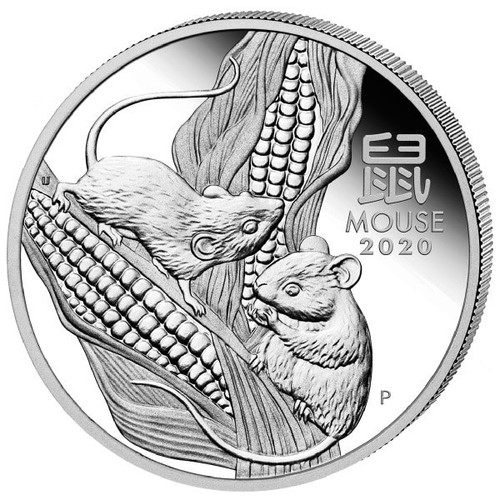 Australia 2020 Year of the Mouse 1 oz Silver BU Coin - Series III