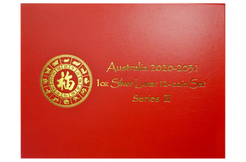 Australia 2020-2031 1 oz Silver Lunar 12-coin Set - Series III - Presentation Box only