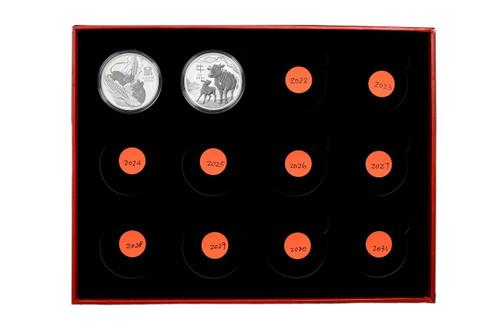 Presentation Box - Australia 2020-2031 1 oz Lunar Silver BU 12-coin Set - Series III