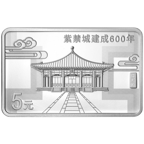 China 2020 600th Anniversary of the Forbidden City 15 grams Silver Proof 3-Coin Set