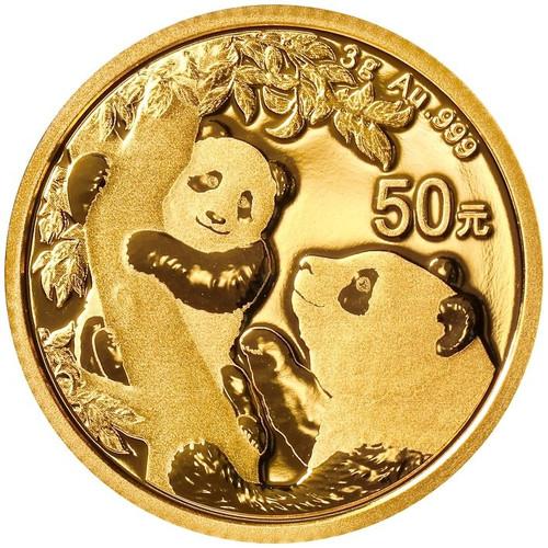China 2021 Panda Gold 3 grams BU Coin