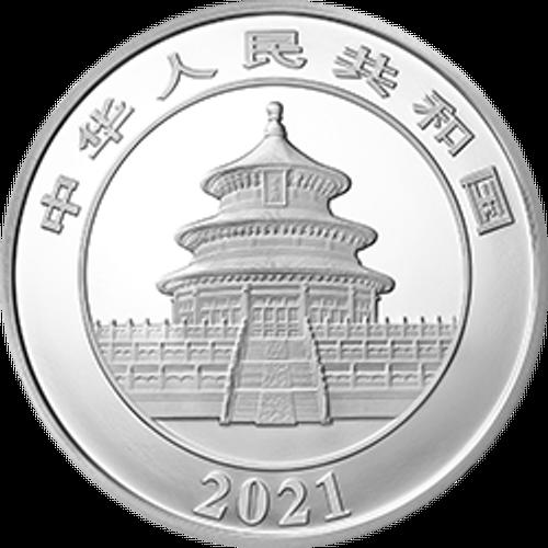 China 2021 Panda Silver 150 grams Proof Coin