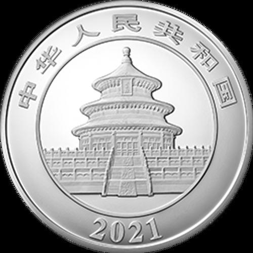 China 2021 Panda Silver 1 Kilo Proof Coin