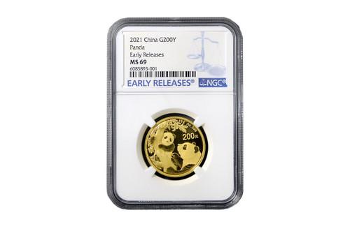 China 2021 Panda 15 grams Gold BU Coin - NGC MS-69 Early Release