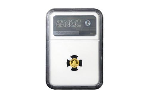 China 2021 Panda 1 gram Gold BU Coin - NGC MS-70 Early Release