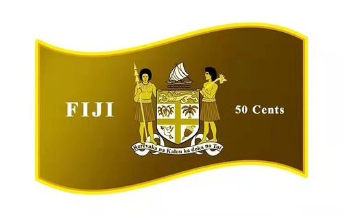 Fiji 2021 46th President of the United States Joseph Robinette Biden Jr Inauguration Gold Plated Copper Coin