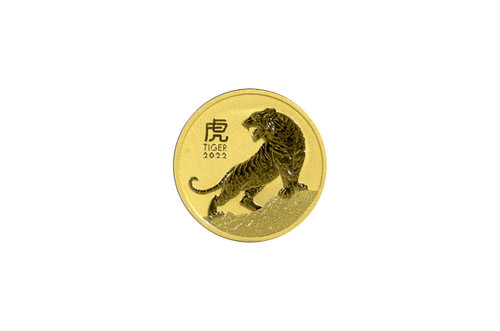 Australia 2022 Year of the Tiger 1 oz Gold BU Coin - Series III