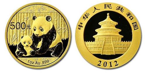 China 2012 Panda 1 oz Gold BU Coin