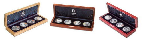 China 2008 Beijing Olympic Games Complete 12-Coin Silver Set - Series I, II, and III