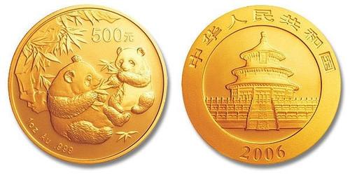 China 2006 Panda 1 oz Gold BU Coin