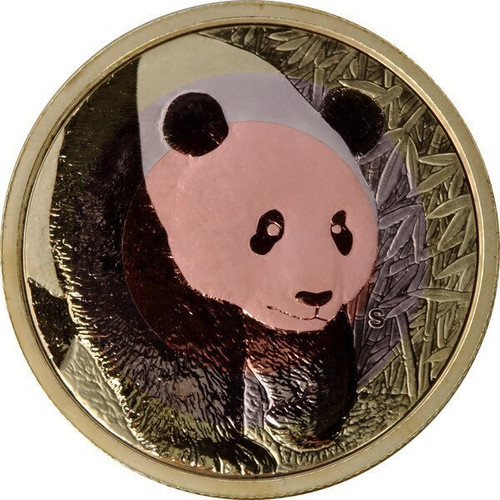 China 2017 Panda ANA Denver - Worlds Fair of Money - Tri-Metal Proof Commemorative