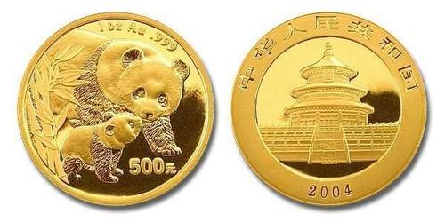 China 2004 Panda 1 oz Gold BU Coin