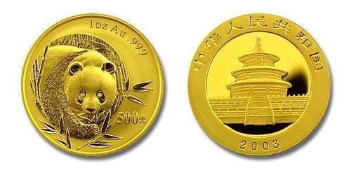 China 2003 Panda 1 oz Gold BU Coin