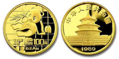 China 1989 Panda 1 oz Gold BU Coin