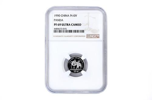 China 1990 Panda 1/10 oz Platinum Coin NGC PF-69 Ultra Cameo