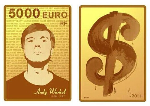 France 2011 Andy Warhol 1 Kilo Gold Proof Coin - Certificate #1