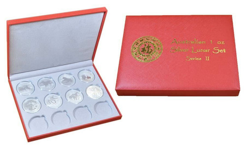 Box - Australia 2008-2019 Lunar Zodiac 1 oz Silver 12-Coin Set - Series II - Presentation Box