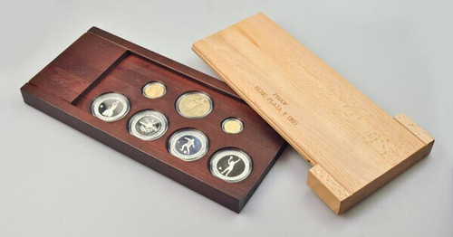 Spain 1992 Barcelona Olympics Gold and Silver Coin Proof Set
