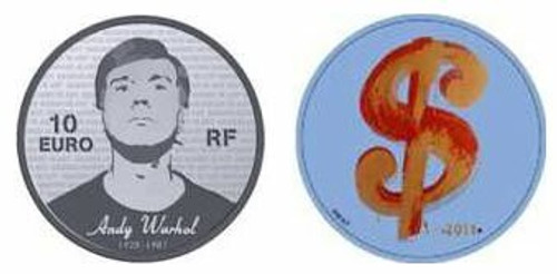 France 2011 Andy Warhol 10 Euro Silver Proof Color Coin