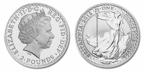 Great Britain 2012 Britannia 1 oz Silver BU Coin