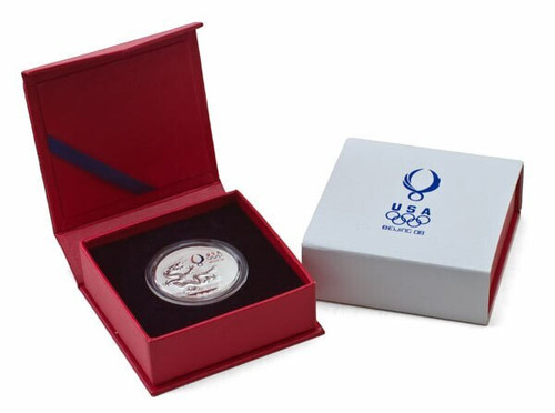 USA 2008 Beijing Olympic Games Panda Sam Gold Plated Medal with USOC Logo