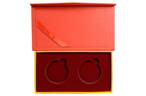 Presentation Box - 1 oz Silver World Coin or Medal in 40 mm 2-pc Set