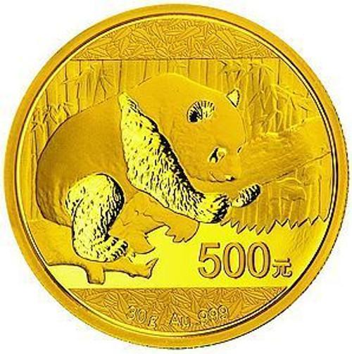 China 2016 Panda 30 gram Gold BU Coin
