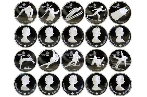 Canada 1988 Calgary Winter Olympics Silver 10 Coin Proof Set