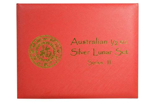 Presentation Box - Australia 2008-2019 1/2 oz Lunar Zodiac Silver BU 12-Coin Set - Series II