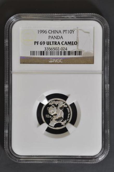 China 1996 Panda 1/10 oz Platinum Coin - NGC PF-69 Ultra Cameo