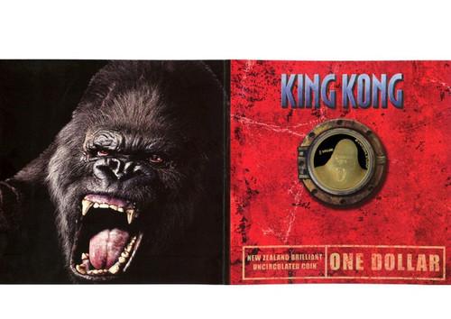 New Zealand 2005 King Kong 1 Dollar BU Coin