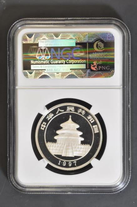 China 1997 Panda 1/2 oz Silver Coin - NGC MS-69