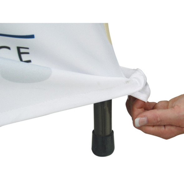 Premium Stretch Table Cover 8ft 4-Sided (Close Back) (Full-Color Dye Sublimation, Full Bleed)