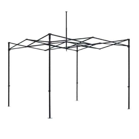 "Premium Aluminum (Black)10' Tent Kit (Dye-Sublimation) 17"" Valance"