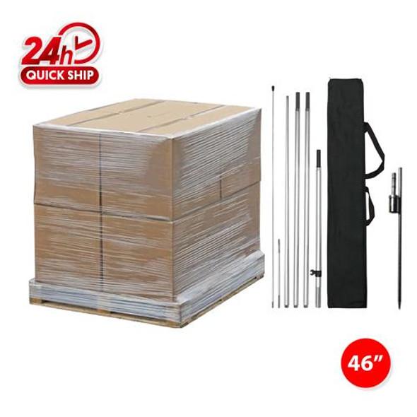 250pcs 15' Pole kits with Ground Stake/ 48'' x 48'' x 48'' / 1020lbs/1 Pallet