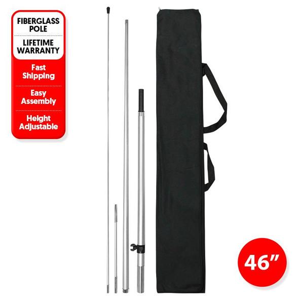 250pcs 8' Pole kits with Ground Stake/ 48'' x 48'' x 48'' / 1020lbs/1 Pallet